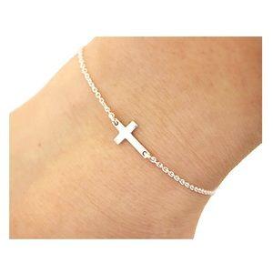 Silver Cross Bracelet NWT